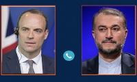 گفتوگو و رایزنی تلفنی وزرای امور خارجه ایران و انگلیس