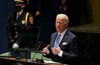 تظاهرات ضد آمریکایی مقابل سازمان ملل؛ دخالتهای نظامی را خاتمه دهید