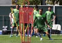 تیم ملی فوتبال ایران در حباب ضدکرونا پیش از دیدار با امارات