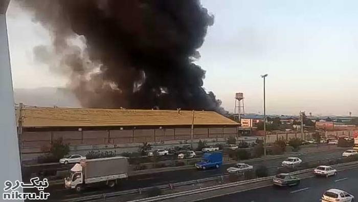 آتشسوزی گسترده در محدوده جاده مخصوص+فیلم