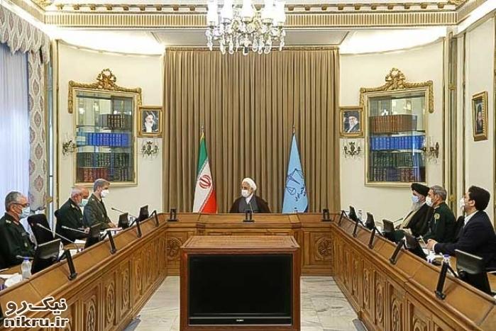 وزیر دفاع و معاونانش با رئیس قوه قضاییه دیدار کردند