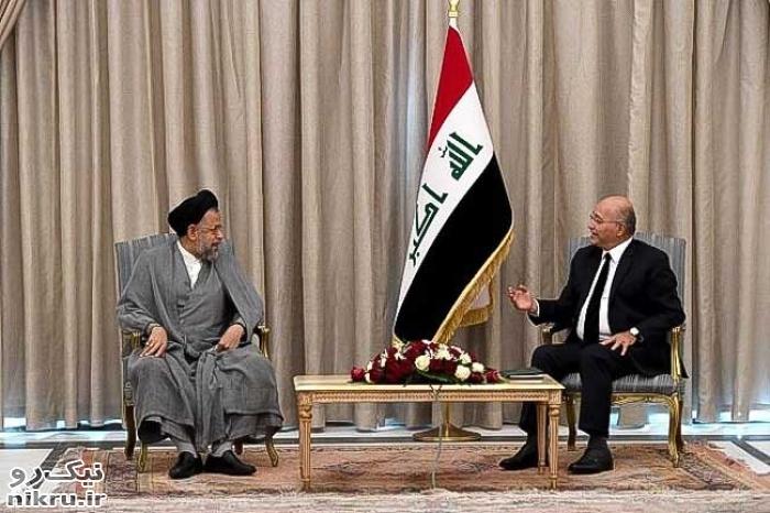 وزیر اطلاعات ایران با رئیس جمهور عراق دیدار کرد
